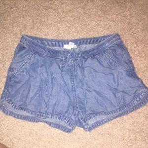 Loose blue shorts